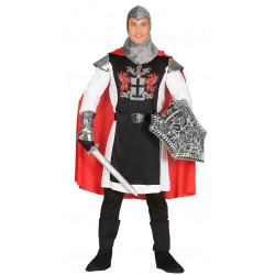 Disfraz de caballero medieval adulto. Disfraz de guerrero feudal