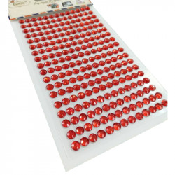 Pegatinas Brillantes 6 mm, 234 unidades. Strass Rojo para DIY