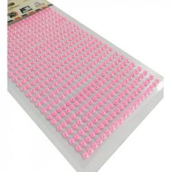 Set Perlas Adhesivas 4 mm, 480 piezas. Perlas Rosas de decoración