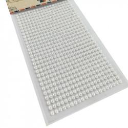 Set Perlas Adhesivas 4 mm, 480 piezas. Perlas Blancas de decoración
