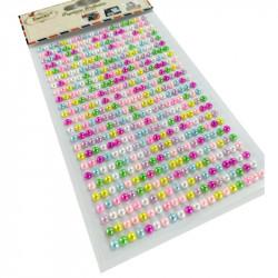 Set Perlas Adhesivas 4 mm, 480 piezas. Perlas Surtidas de decoración