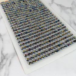 Set Perlas Adhesivas 4 mm, 480 piezas. Perlas Tornasol de decoración