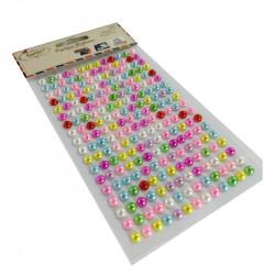 Perlas Adhesivas 6 mm, 234 piezas. Pegatinas Nacaradas DIY Colores Surtidos
