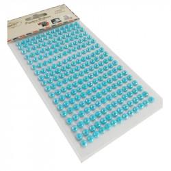Perlas Adhesivas 6 mm, 234 piezas. Pegatinas Nacaradas DIY Turquesa