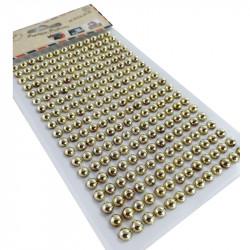 Perlas Adhesivas 6 mm, 234 piezas. Pegatinas DIY Oro
