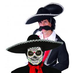 Sombrero negro mejicano de mariachi