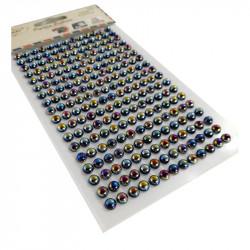 Perlas Adhesivas 6 mm, 234 piezas. Pegatinas Tornasol Negras