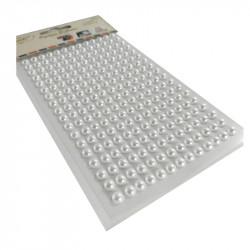 Perlas Adhesivas 6 mm, 234 piezas. Pegatinas Blancas Nacaradas