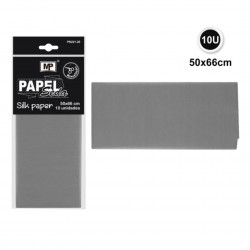 Papel Seda Color Gris, 50x66 Cm