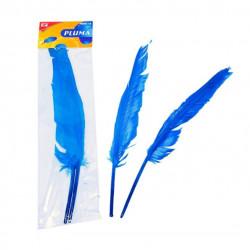 Plumas de ganso azules de 30 cm para manualidades