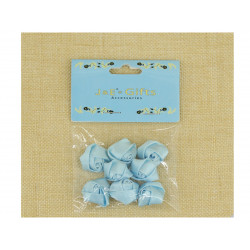 Flores de Tela con Adhesivo para Recuerdos Azul