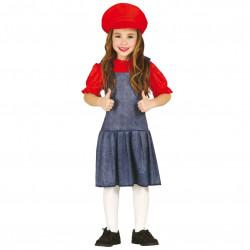 Disfraz de Maquinista Girl Infantil - Disfraz de Súper Mario para Niña