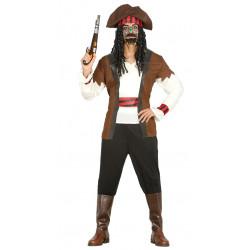 Disfraz pirata siete mares adulto. Disfraz de Jack Sparrow para adulto