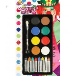 Set de maquillaje para carnavales, colores surtidos