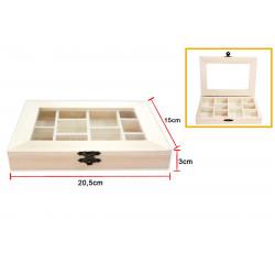 Caja de Madera de 20.5 x 15 x 3 Cm