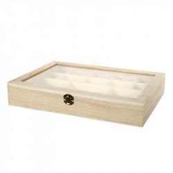 Caja Organizadora de Madera 38x26 cm Multiusos. Caja joyero