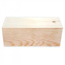 Caja Porta Pinceles de Madera, 16,7 x 6,2 cm