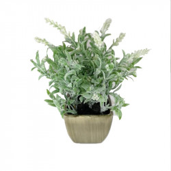 Flores artificiales blancas para escritorio y baño. Decoración de verano