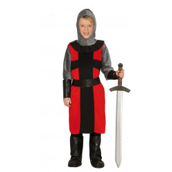 Disfraz de caballero feudal infantil. Traje de soldado medieval para niño
