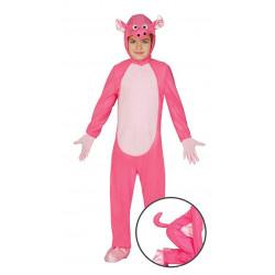 Disfraz de cerdito rosa para niño y niña