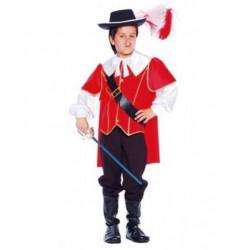 Disfraz de Mosquetero Rojo para niño. Traje de D'Artagnan infantil