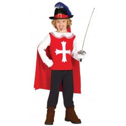 Disfraz de Mosquetero D'Artagnan para niño. Traje Los tres mosqueteros infantil