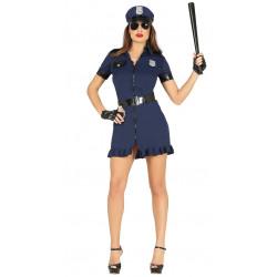 Disfraz de policía sexy. Mini vestido de policía americana