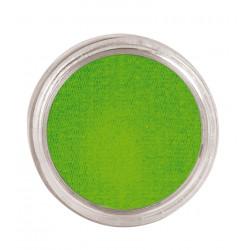 Maquillaje al agua verde claro