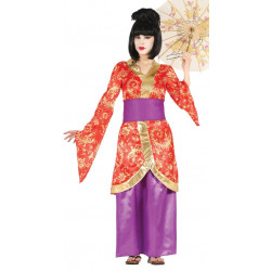 Disfraz de Geisha Adulta. Vestido Oriental de Geisha