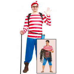 Disfraz de marinero excursionista para adulto. Disfraz ¿Dónde está Wally?