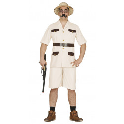 Disfraz de cazador de la selva para adulto