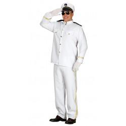 Disfraz de capitán de crucero adulto. Disfraz de marinero blanco para adulto