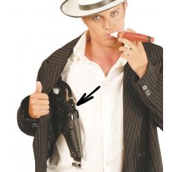 Pistola gangster con sobaquera PVC