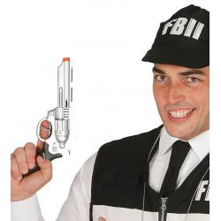 Pistola Revolver FBI, 28 cm PVC