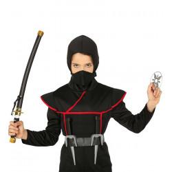 Set ninja: Sable japonés + Estrella ninja + Dagas