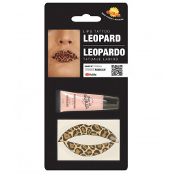 Tatuaje para los labios - Pintalabios de Leopardo