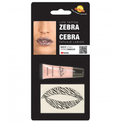 Tatuaje para los labios - Pintalabios de Cebra