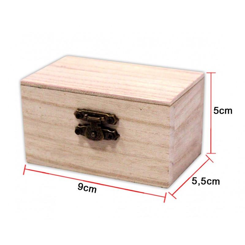 Caja de madera rectangular peque a for Cajas de madera pequenas