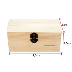 Caja de Madera Rectangular Mediana. Cofre de madera para bisutería