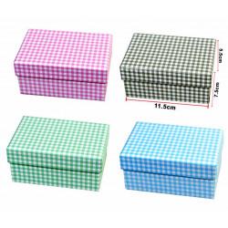 Cajita Cuadrícula para regalo, varios colores