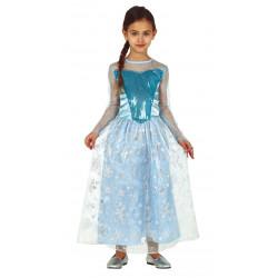 Princesita nieve azul infantil para niñas