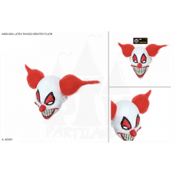 Máscara látex payaso dientes fluor
