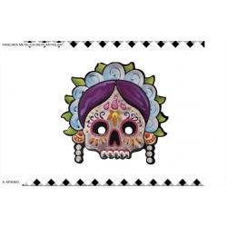 Máscara metalizada de mujer mexicana