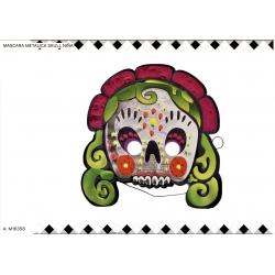 Máscara metalizada de skull o mexicana mujer