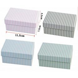 Cajas para regalo de rayas, varios colores