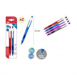 Bolígrafo Elíptico, Pack 2 Unidades Azules