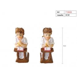 Figura de yeso para comunión de niña. Figura de 8 cm.