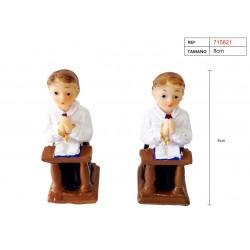 Figura de yeso para bautizo de niño. Figura de 8 cm.