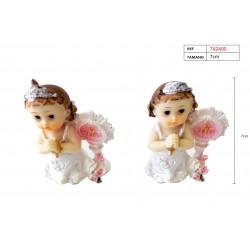 Figura de bautizo para niña. Figura de yeso de 7 cm.
