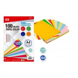 100 hojas colorines A4 80G colores surtidos